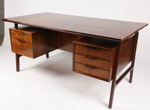 Danish Vintage Rosewood Desk, By Gunni Omann, Denmark 1960s, Model 75,  Danish