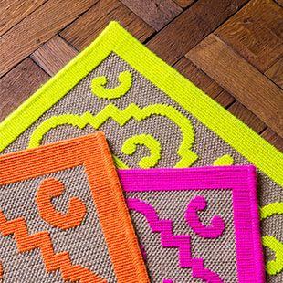 Tapis en collection, Casa Lopez, modèle Pia, six couleurs, casalopez.com