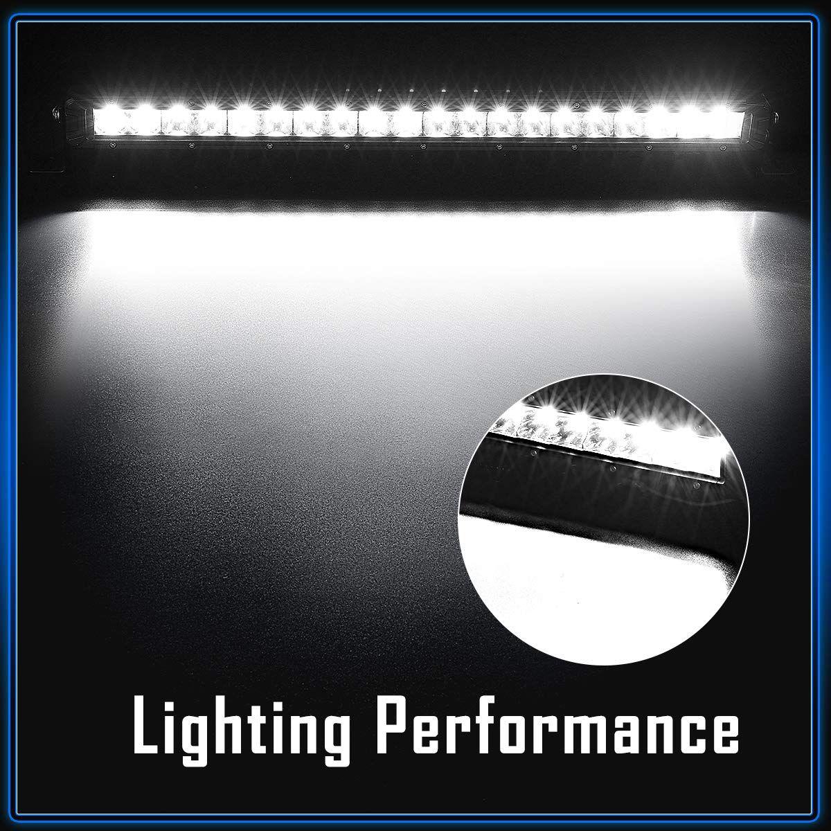 Rigidhorse Led Light Bar 12 Inch 72w Single Row Flood Led Light Bars Off Road Led Lights Led Lights