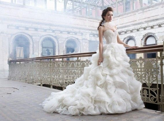 Bridal Outfits With Beautiful Frills Simple Wedding Dresses
