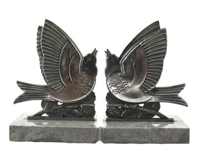 Strikingly Idea Bird Bookends. Art deco bookends  Deco Pinterest Books and