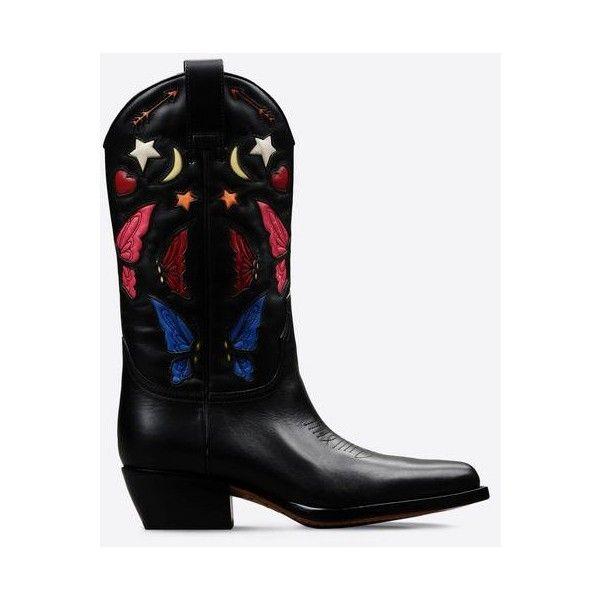 Valentino Texan Boot (36.135 ARS) via Polyvore featuring shoes, boots, valentino boots y valentino shoes