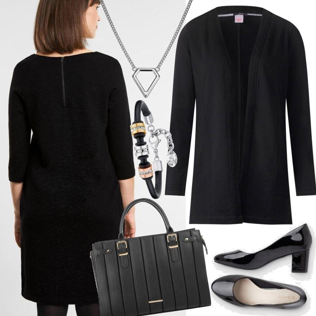 cecil festliches jersey kleid - black schwarz outfit für