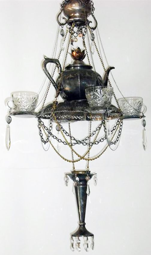 teacup chandelier / sew outside the lines™ with jody pearl