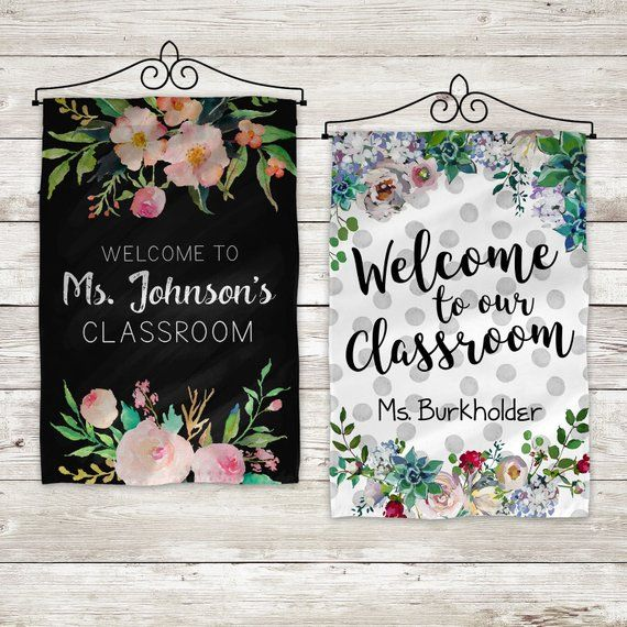 Welcome to our Classroom Flag, Custom Teacher Flag