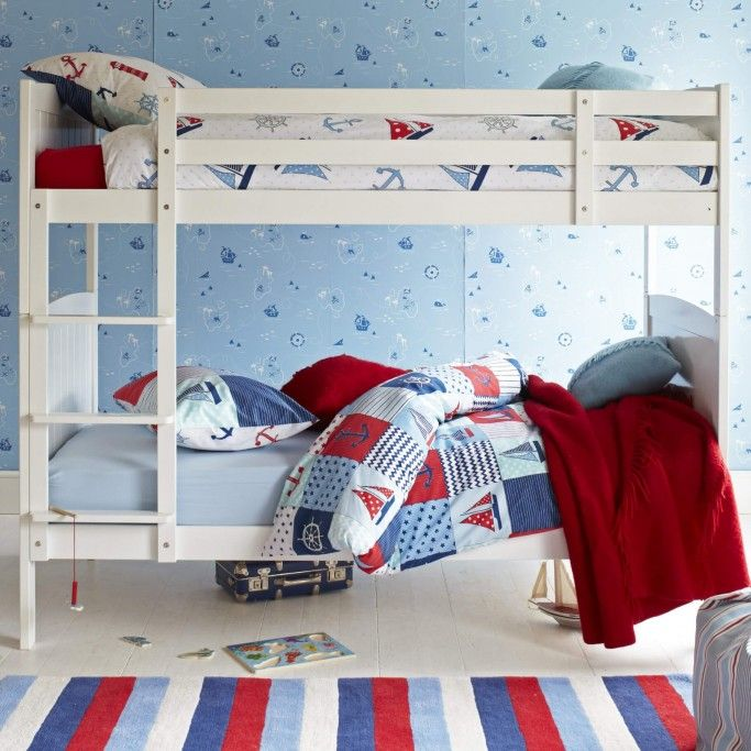 Milford Bunk Bed Silk White Childrens Bunk Beds Wooden Bunk