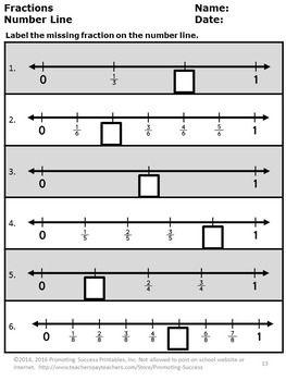 fractions on a number worksheets fractions on a number. Black Bedroom Furniture Sets. Home Design Ideas