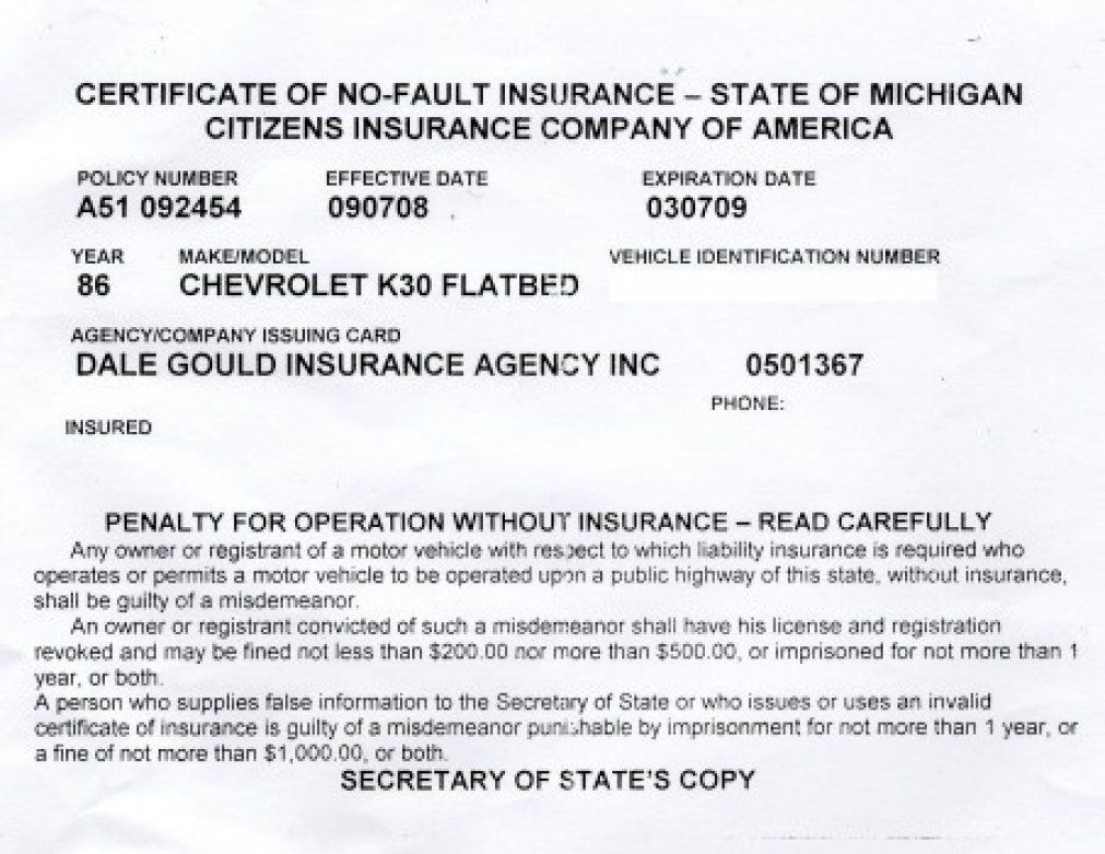 Fake Proof Of Insurance In Court For Car Insurance Card Template