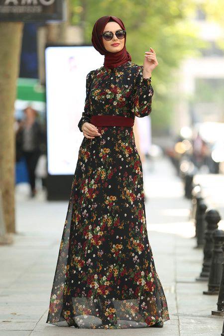 Photo of Çiçek Desenli Tesettür Elbise – Tesetturisland.com