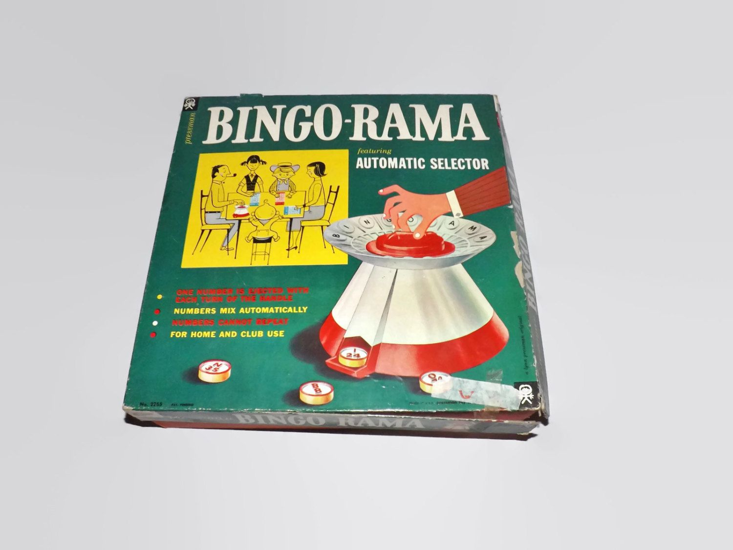 Vintage Bingo - Rama Game, Pressman, Automatic Selector, Multi Player, Numbers, Markers, Five In A Row by JandDsAtticTreasures on Etsy