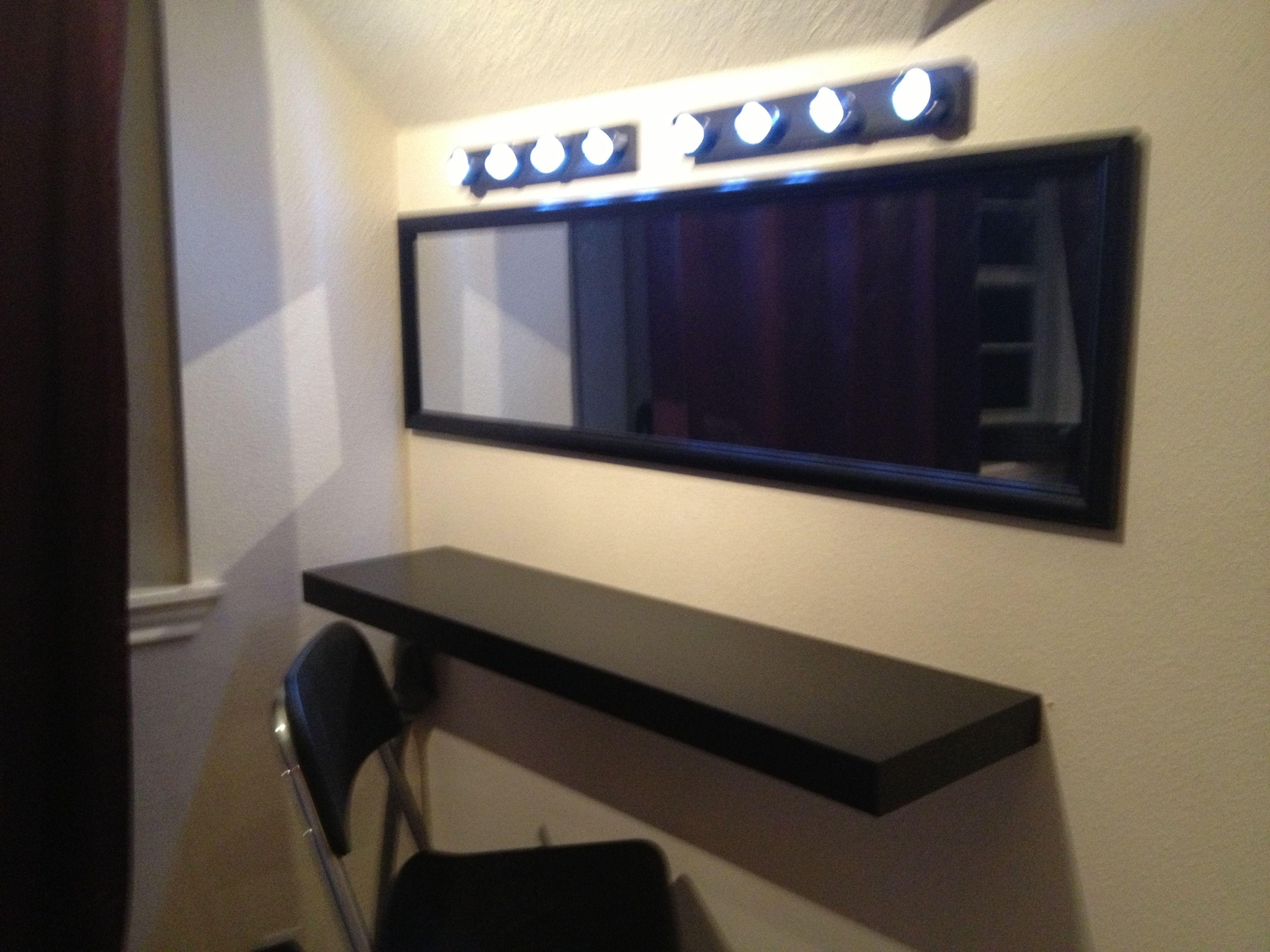 My Vanity Ikea Lack And Chair Wireless Led Track Lights