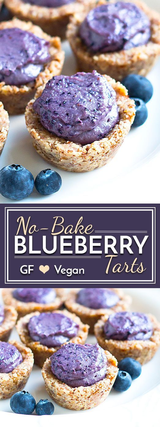 NoBake Healthy Blueberry Tarts is part of Healthy Blueberry dessert - These NoBake Healthy Blueberry Tarts are naturally sweetened, glutenfree, dairyfree and can easily be made vegan!!  These sweet treats are a wonderful addition to your Spring and Summer dessert table