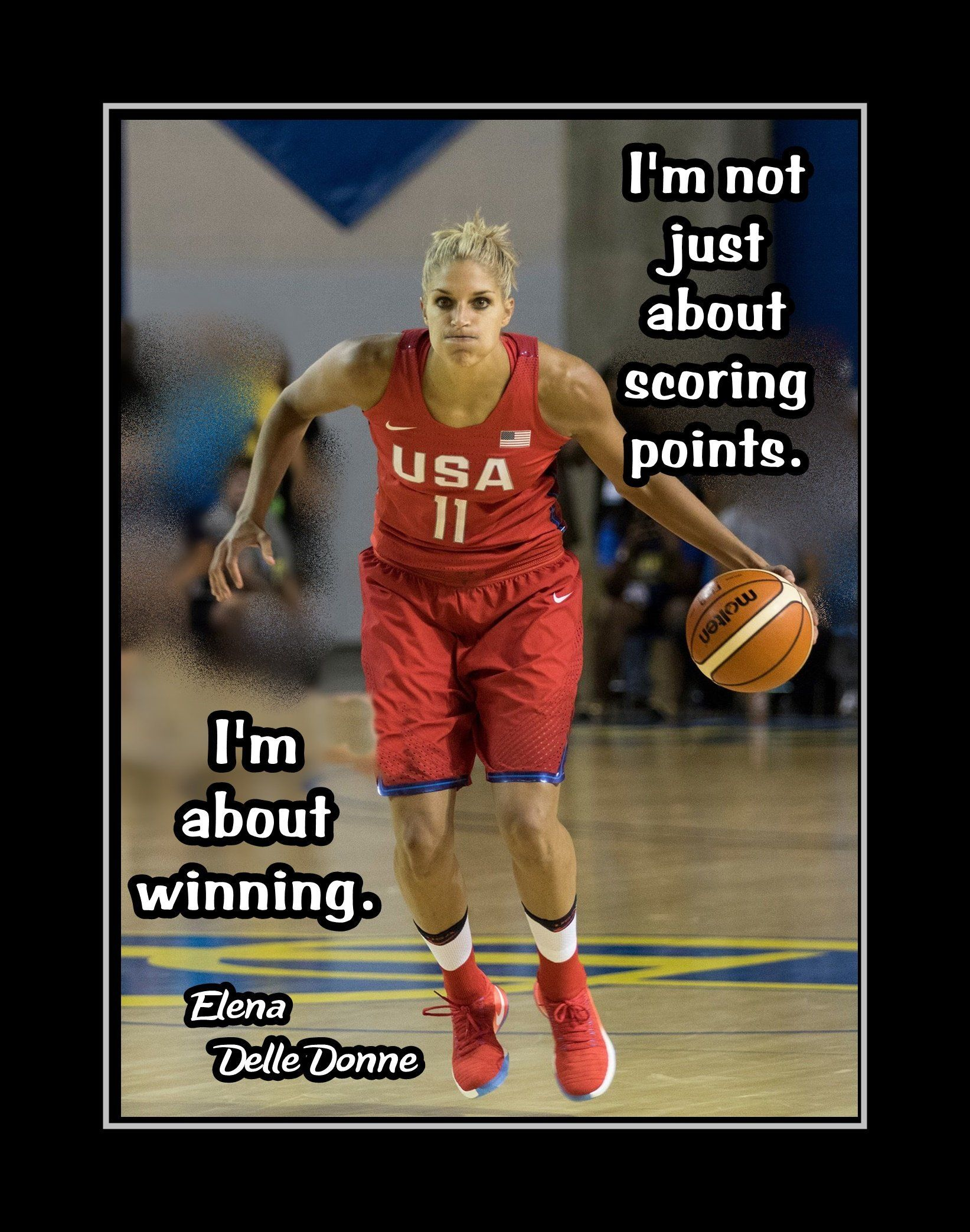 Basketball inspirational quote poster gift photo wall