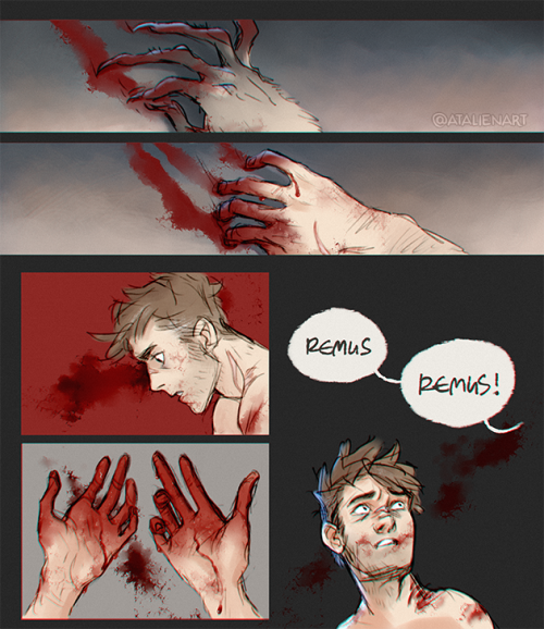 Full moons are hard (Part 2) #remus #lupin #werewolf #hp