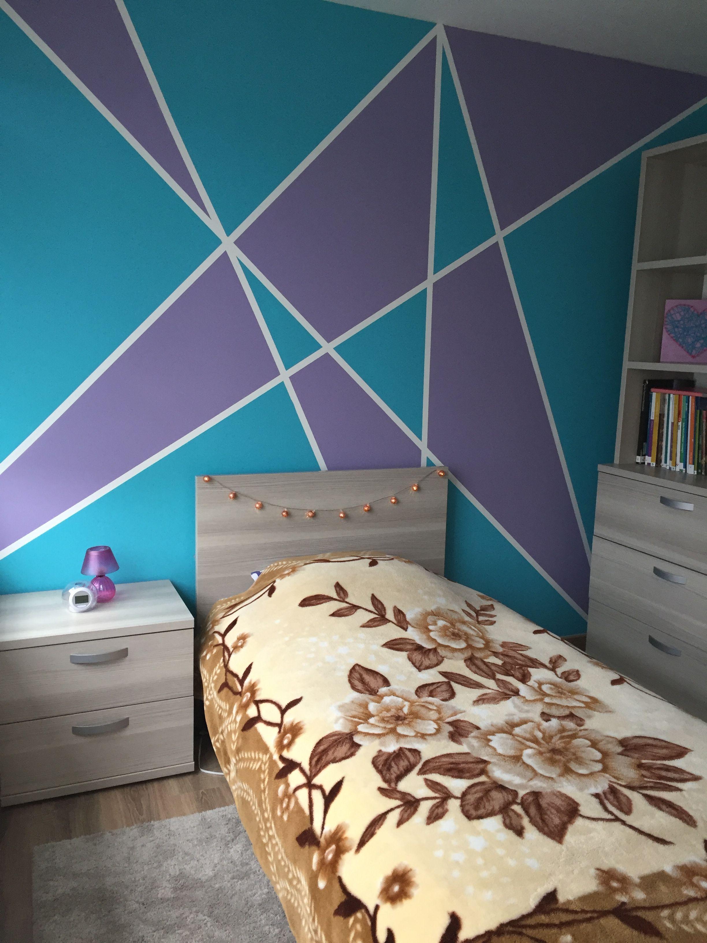 Bedroom Purple And Blue Theme Blue Kids Room Purple Kids