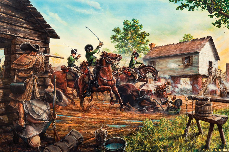 British Light Dragoons Ambushed