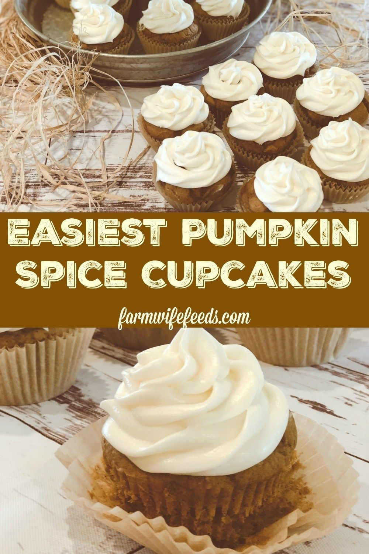 Easy Pumpkin Spice Cupcakes - The Farmwife Feeds