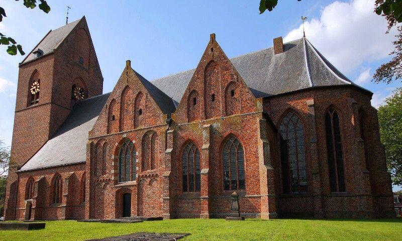 Church Loppersum year14th century ( Groningen) The Netherlands.