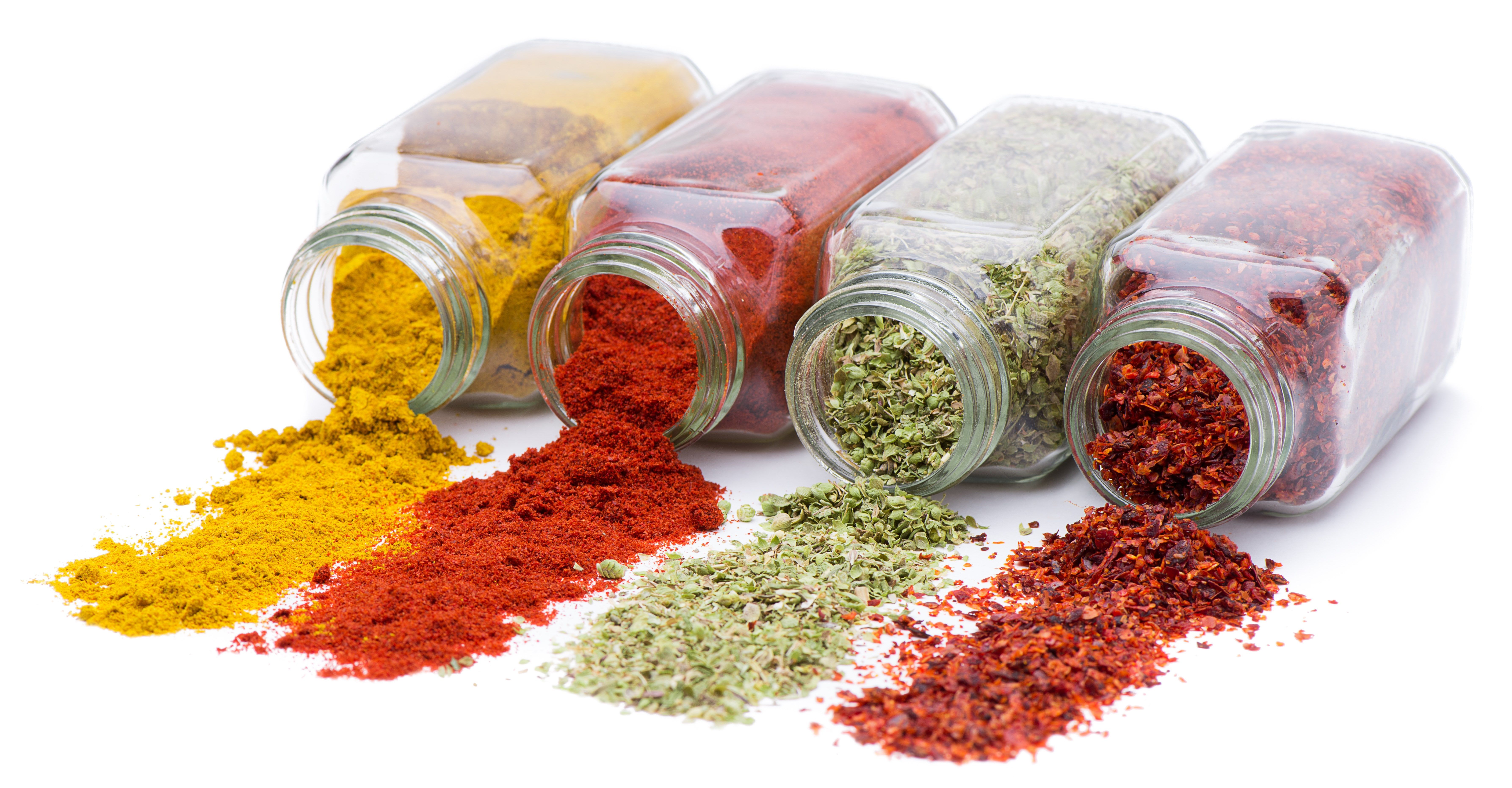 Herbs And Spices 5k Wallpaper Hdwallpaper Desktop Herbs Spices Organic Spice Spice Jars