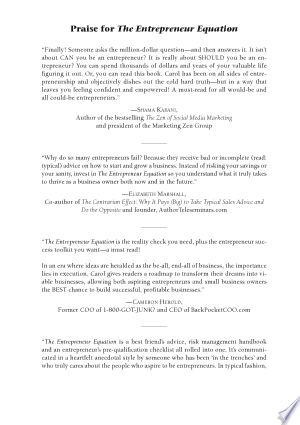The Entrepreneur Equation PDF Free Download