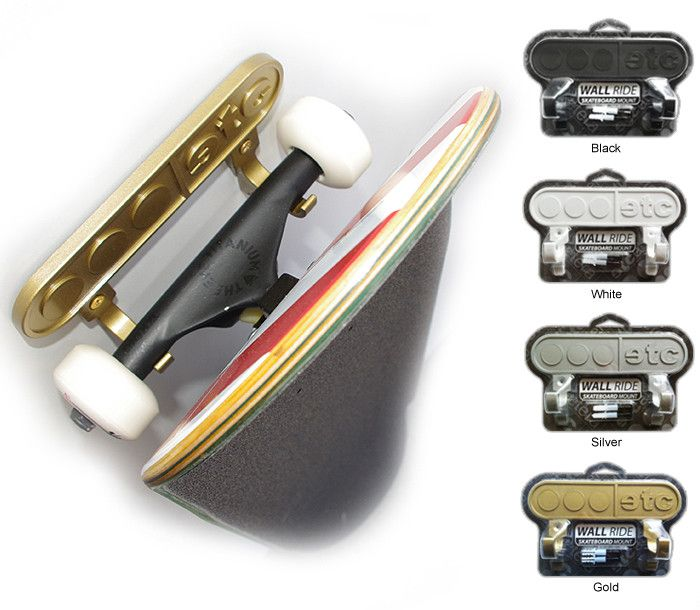 etc wall ride skateboard mount the etcetera wall ride board mount is made for hanging