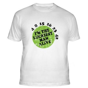 Lost Numbers Luckiest Man Alive Fitted T Shirt Lost Movie