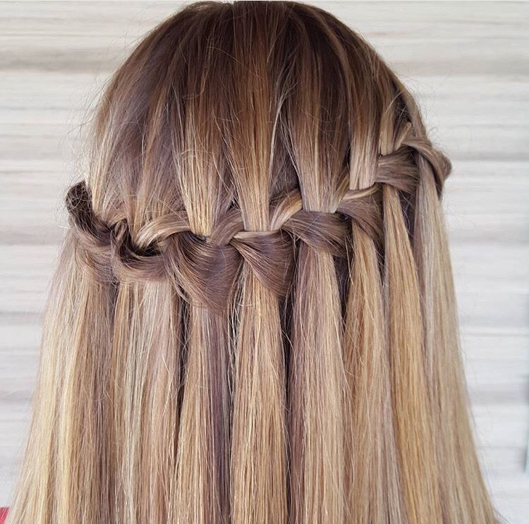 My wafter fall braid for homecoming