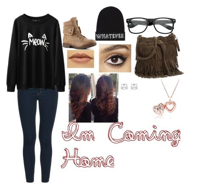 """""""IM COMING HOME"""" by reyawilber on Polyvore featuring J Brand, Local Heroes and Charlotte Tilbury"""