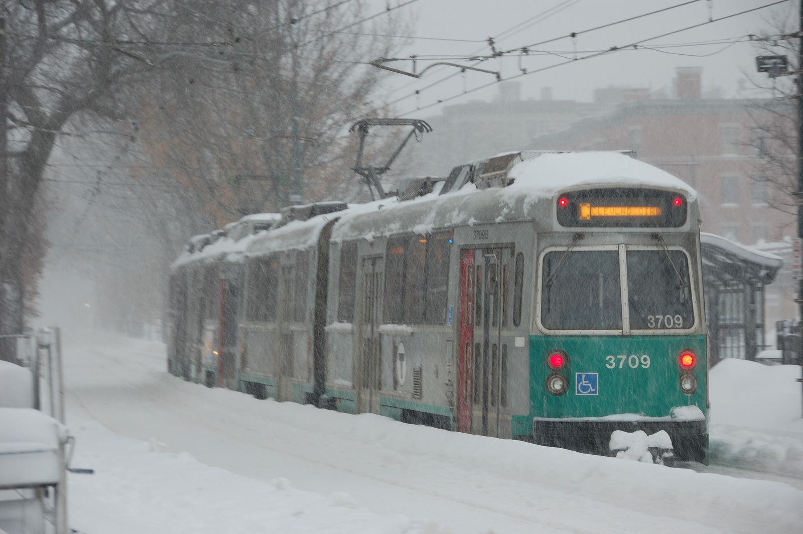 A Green Line trolley departs from St Marys Street stop | Flickr - Photo Sharing!