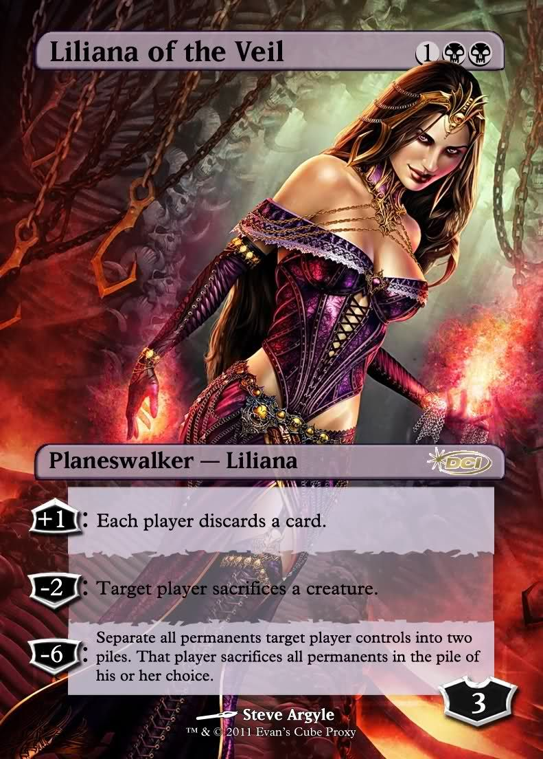 Magic The Gathering Liliana of the Veil Proxy