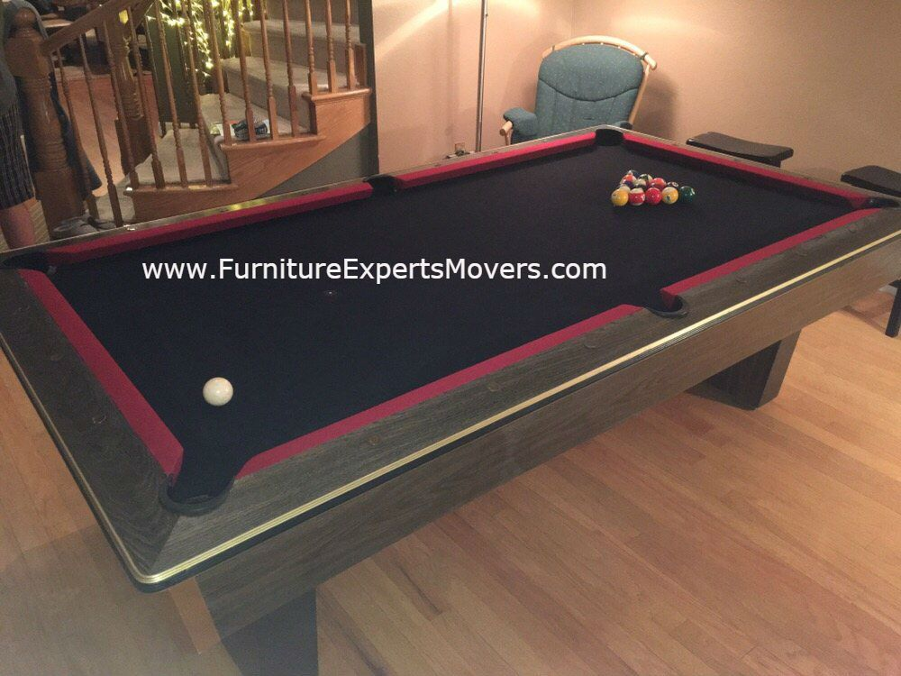 BILLIARD POOL TABLE MOVERS Disassembly relocation