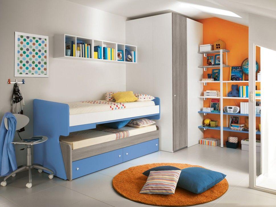 Camerette Eresem : Camerette eresem libreria bianco opaco tiglio grigio