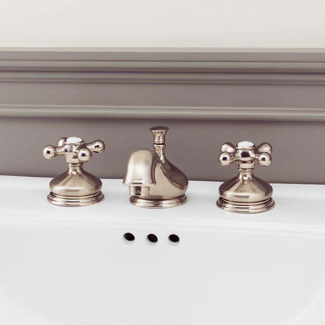Teapot Widespread Bathroom Sink Faucet Metal Cross Handles Faucet Bathroom Faucets Metal Cross [ 1300 x 1300 Pixel ]