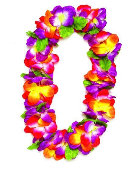 Yellow Luau Party Hibiscus Petal Lei Hawaiian Dress Floral Garland Purple Red