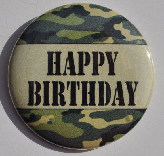 Camo Birthday Military Birthday Hunters Button Camouflage Theme