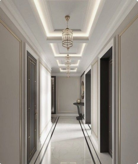 Pin By Majed S On ديكورات اسياب Corridor Design House Ceiling Design Ceiling Design Modern