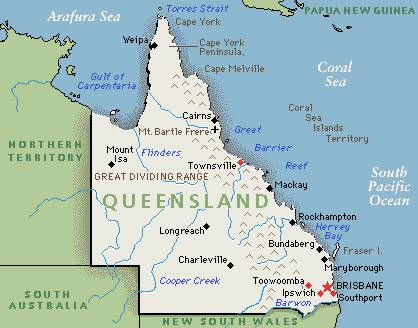Cairns And Nearby Map Of Queensland Coast