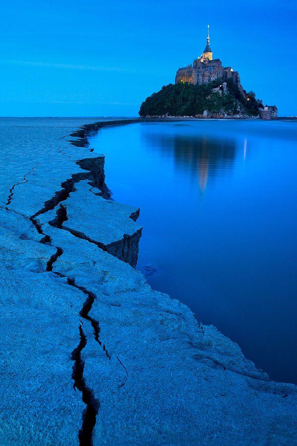 Blue Hour Mont St. Michel, France