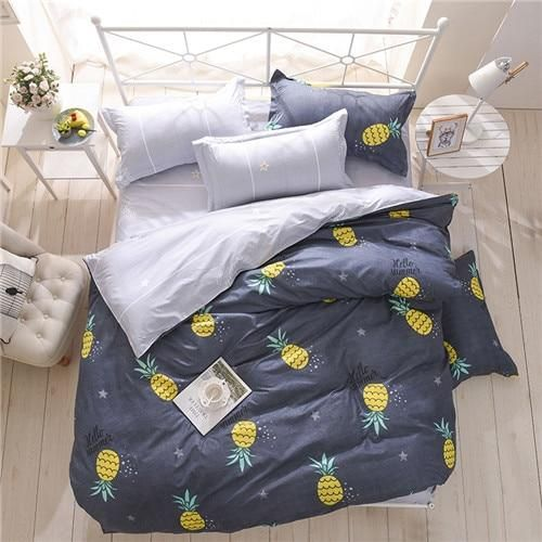 New Spring Bedding Set Orange Cactus Duvet Cover Set Big Ben Flat