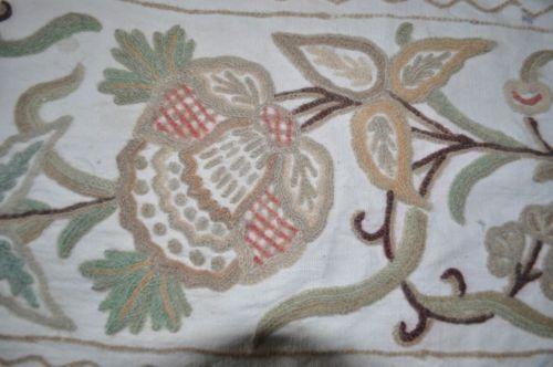 Vintage-Art-Nouveau-Art-Deco-Crewel-Embroidered-Linen-Cloth