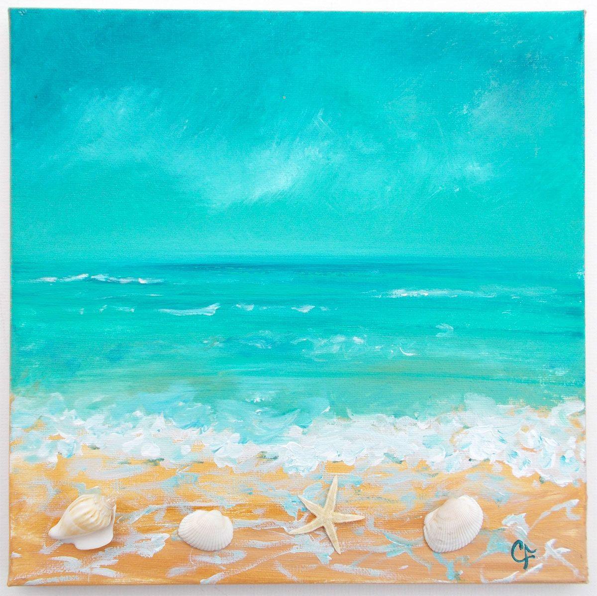 Easy Acrylic Painting Ideas Beach