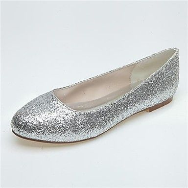 Women's Shoes Round Toe Flat Heel Flats with Sparkling Glitter Wedding Shoes  More Colors available –