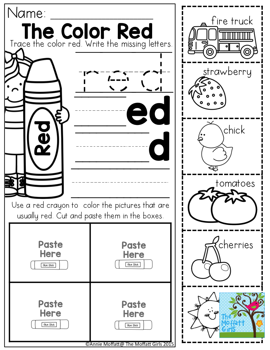 worksheet Color Red Worksheets For Preschool color word practice and tons of other printable for preschool to 3rd grade