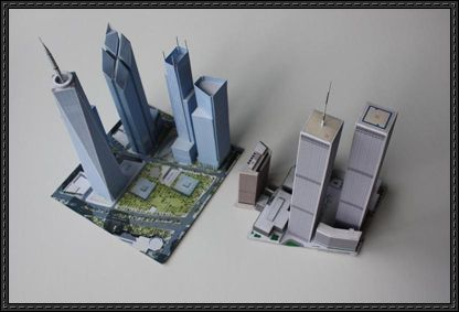 9/11 Models - Old and New World Trade Center Free Building Paper