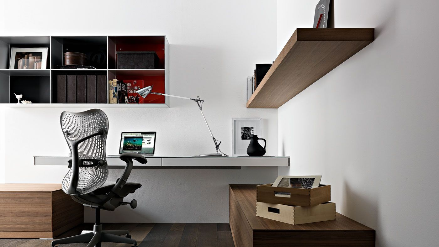 Simple Home Office Design Ideas Wall Mounted Laptop Desk Valcucine 4    Trendir