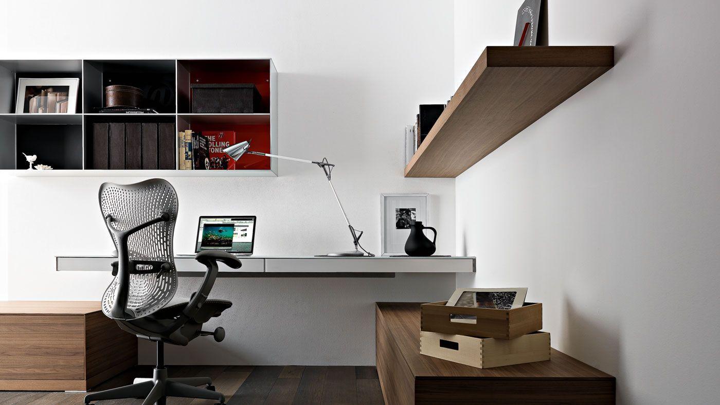 Genial Simple Home Office Design Ideas Wall Mounted Laptop Desk Valcucine 4    Trendir