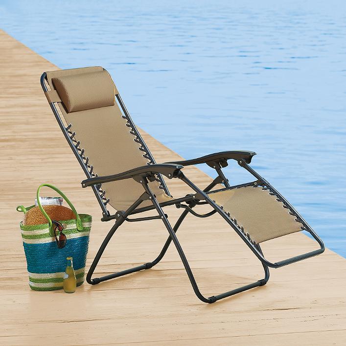 Relaxer Chair in Tan Zero gravity
