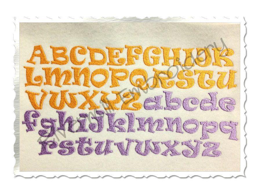 ravie machine embroidery font monogram alphabet 3 sizes machine