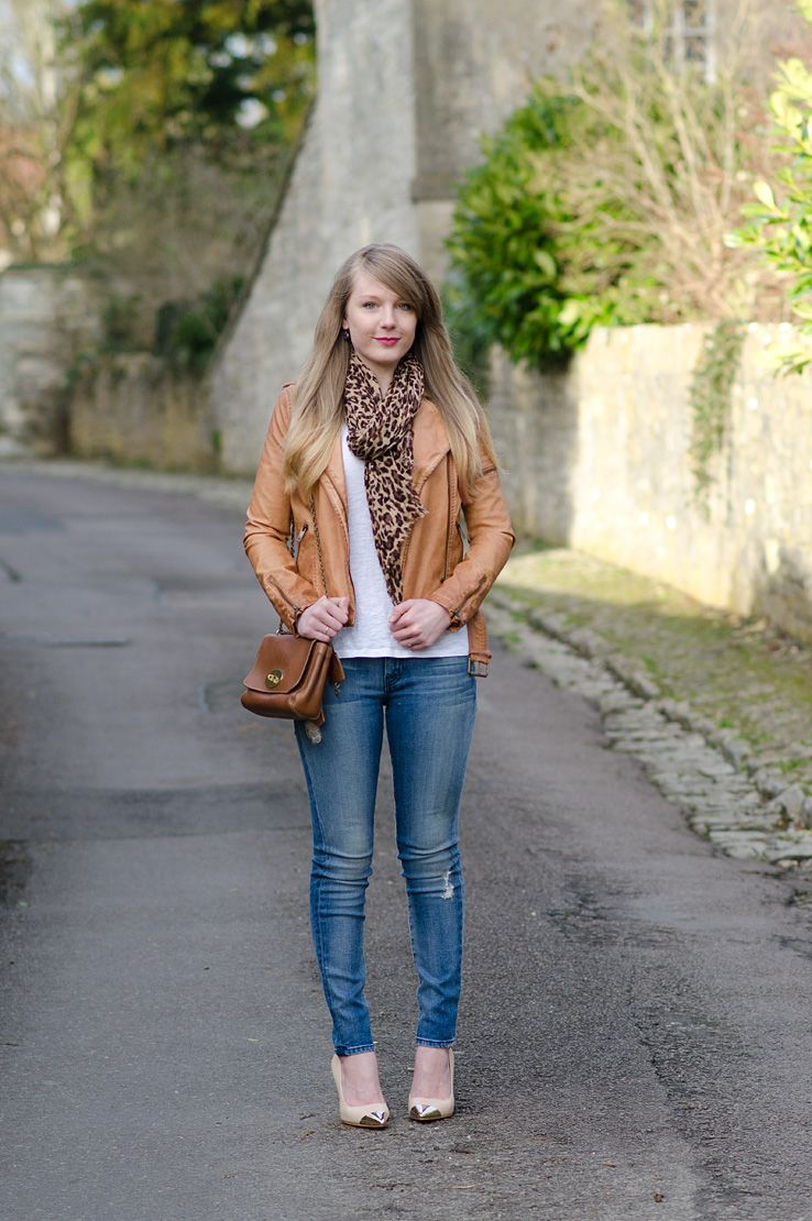 e449c1084cfd lorna burford tan jacket leather Tan, Leopard And Blue Denim | boots ...