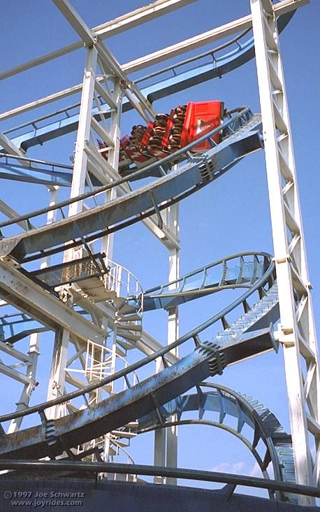 Flashback Roller Coaster At Six Flags Magic Mountain It Looks Like
